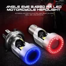 Angel eye – phare de moto 30W H4, Ba20d HS1 H6 Scooter moto, ampoule, accessoires DRL 12V-80V 1 pièce