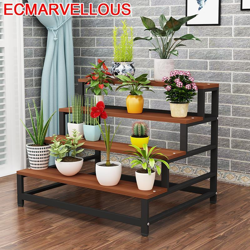 For Rak Bunga Huerto Urbano Madera Saksi Standi Suporte Flores Table Plantenrekken Balcony Shelf Outdoor Flower Rack Plant Stand