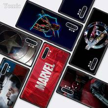 Marvel Superheroes The Avengers Black Cases for Samsung Galaxy Note 10 5G 9 8 M40 M30 M20 S10 Plus A50 A70 Silicone Phone Cover