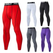 Mallas ajustadas de compresión para hombre, pantalones de secado rápido para entrenamiento, deportes, correr, fitness, yoga y gimnasio