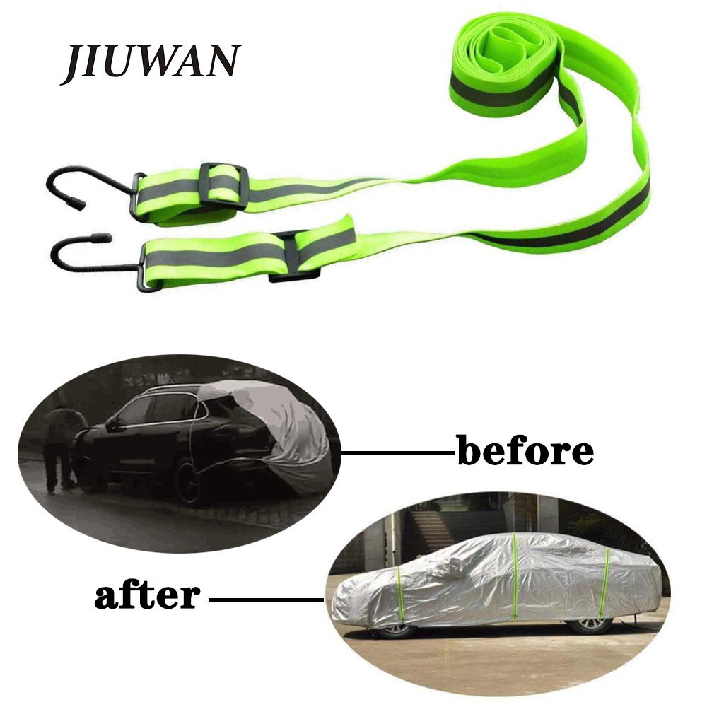 1 Pcs 3m Car Covers Custom Elastic Adjustable Reflective Stripe Rope Easy Installation Protect Cover From High Wind Multiple Use