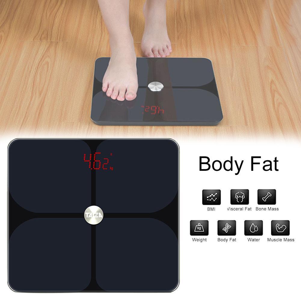 Balance de graisse corporelle sol scientifique intelligent électronique LED poids numérique Balance de salle de bain Bluetooth pour Fitbit Apple santé et Google