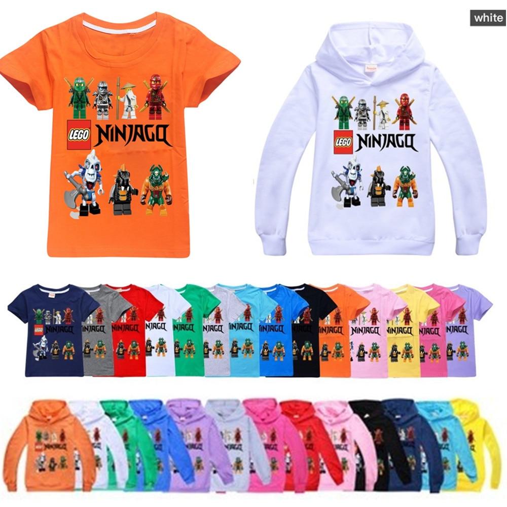 Boys T-shirts 2020 Summer Kids Ninjago T Shirts Cotton Top Tees Boys Girls tshirt Costume Boys Clothes Children Clothing 2-16y 1