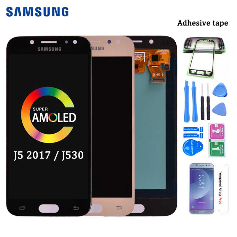Super Amoled LCD Für Samsung Galaxy J5 2017 J530 J530F LCD Display Touchscreen Digitizer Montage lcd für J5 Pro 2017 J5 Duos