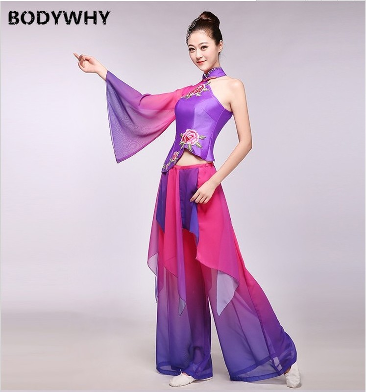 Folk Dress Hanfu Women Dance Costumes Ancient Chinese Costume Stage Performance Clothing Stage Costume Yangko Fashion Outfits