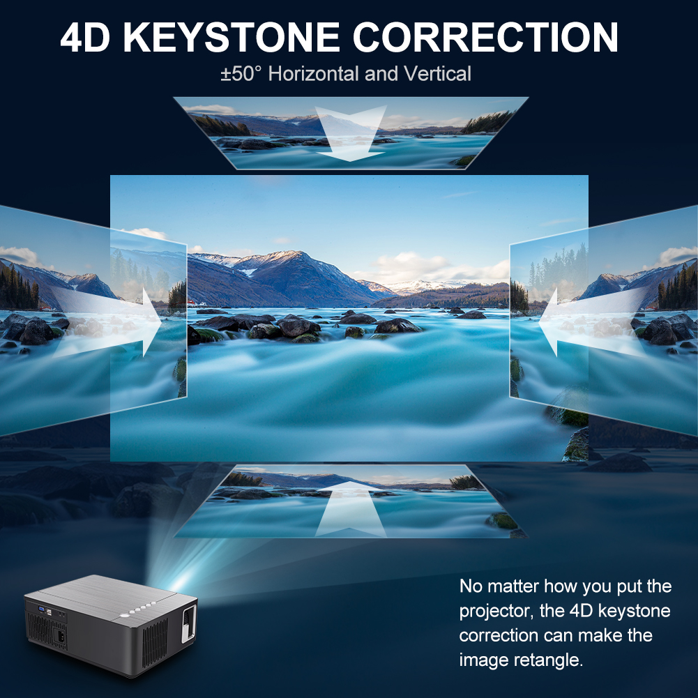 Vivicine M20 Newest 1080p Projector,Option Android 10.0 1920x1080 Full HD LED Home Theater Video Proyector Beamer Support AC3 4