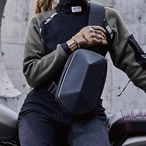 Image 2 - Youpin TAJEZZO Polyhedron PU sırt çantası moda Crossbody çanta su geçirmez eğlence spor göğüs paketi çanta erkek seyahat kamp
