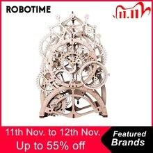 Robotime 4 أنواع DIY بها بنفسك القطع بالليزر ثلاثية الأبعاد نموذج ميكانيكي نموذج خشبي بنة مجموعات التجمع لعبة هدية للأطفال الكبار