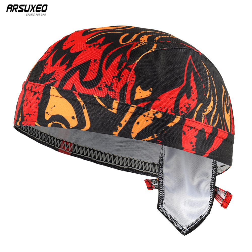 ARSUEXO Summer Cycling Caps Hats Bike Bicycle MTB Outdoor Sports Bandana Men Women Quick Dry Pirate Head Scarf 13 Colors