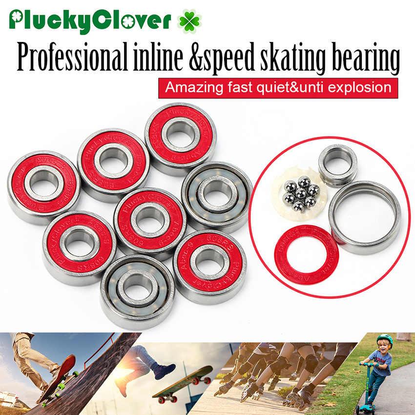 8 個スケートボードロングボードベアリング 608 Abec-9 ダブルロッカードリフトボードの車輪ベアリング 608 rs 赤スケートボードベアリングジャンプオイル Oil1