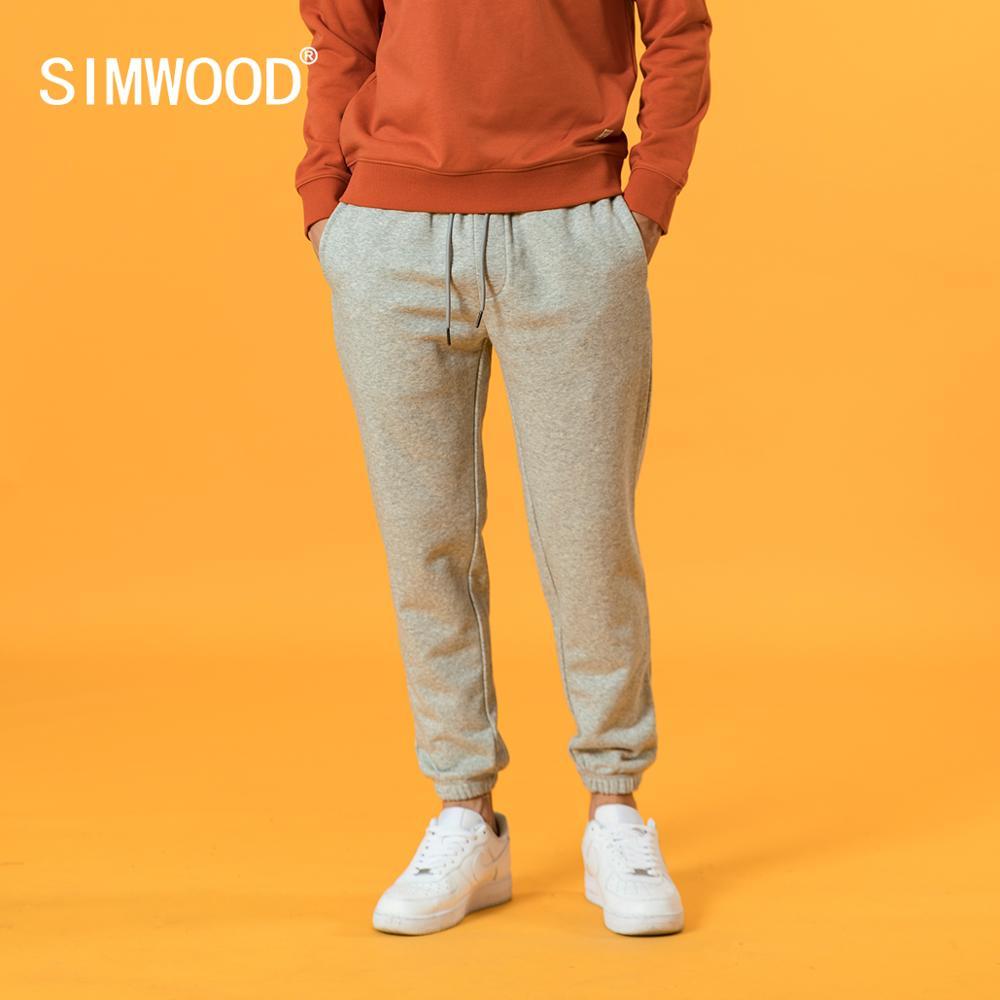 SIMWOOD 2020 Autumn new sweatpants causal comfortable jogger trousers plus size back pockets drawstring plus size pants SJ131038