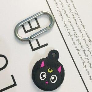 Image 2 - ل AirTags غطاء مضحك القط/الكلب الكرتون سيليكون حماية مكافحة خسر واقية لطيف ل الهواء العلامات محدد المقتفي غطاء