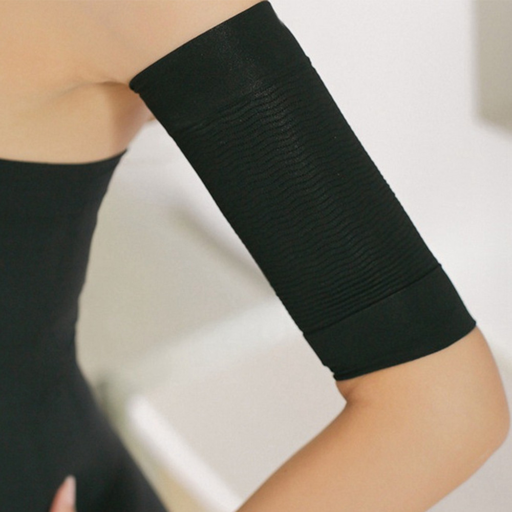 1pair Arm Sleeves Weight Loss Thin Legs For Women Shaper Thin Arm Calorie Off Fat Buster Slimming Wrap Belt Black Arm Warmers