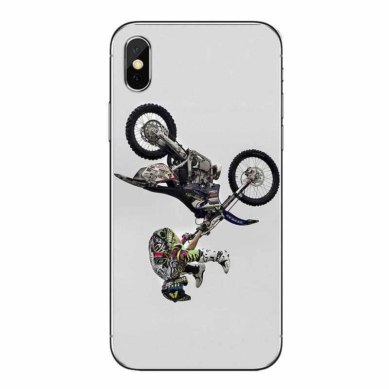 Kotoran Sepeda Moto Bersepeda Ras Moto Cross untuk Samsung Galaxy A5 A6 A7 A8 A9 J4 J5 J7 J8 2017 2018 Plus Prime Transparan Lembut Penutup