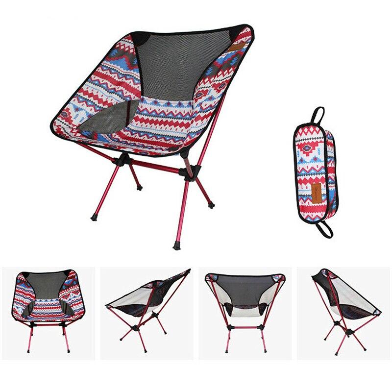 Camping pique-nique chaise pliante siège tabouret pliant extérieur intérieur BBQ sac à dos