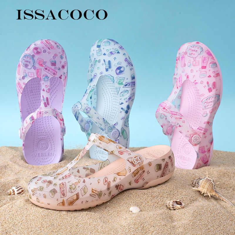 Сандалии-желе женские для сада, брендовые босоножки, пляжные шлепанцы для улицы, летняя обувь