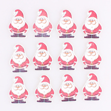Mixed Santa Claus 2Hole Wooden Buttons Christmas DIY Decor Child Clothing Sewing Crafts Scrapbooking Accessories E