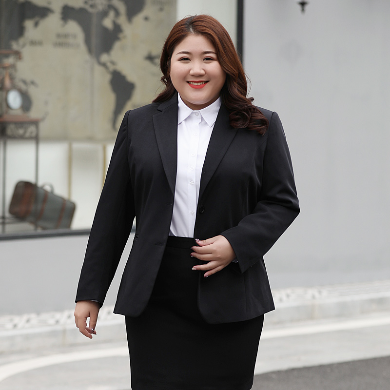 2 piece outfits for women fashion large size suit pants femaleOLprofessional temperament two-piece suit suit suit tooling jacket