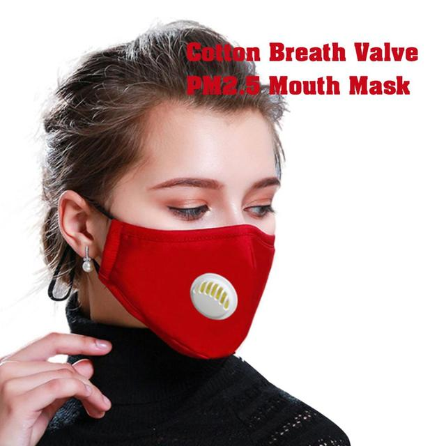 PM2.5 Anti Cotton Haze Mask Breath Valve Anti dust Mouth Mask Activated Carbon Filter Respirator Mouth muffle Mask Face