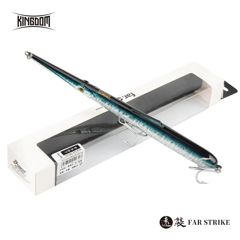 Reino castter afundando lápis iscas de pesca 130mm 11g 13g 205mm 30g 40g duro isca flutuante longe fundição artificial para baixo