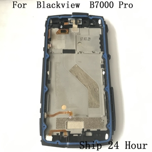 Image 2 - الأصلي Blackview BV7000 برو تستخدم شاشة الكريستال السائل شاشة تعمل باللمس الإطار واجهة المطاط سدادة ل Blackview BV7000 برو