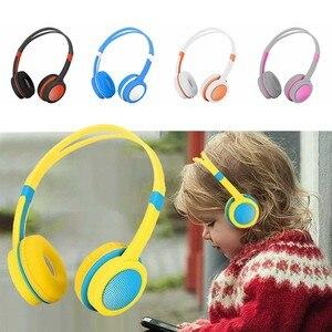 Image 1 - 3.5 مللي متر سماعات سماعات للأطفال سلامة قابل للتعديل سماعة الموسيقى ستيريو سماعات مع ميكروفون ل PC ملحقات الهاتف المحمول