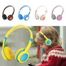 3.5mm słuchawki słuchawki dla dzieci bezpieczeństwo regulowany muzyczny zestaw słuchawkowy Stereo słuchawki douszne z mikrofonem na PC akcesoria do telefonu komórkowego