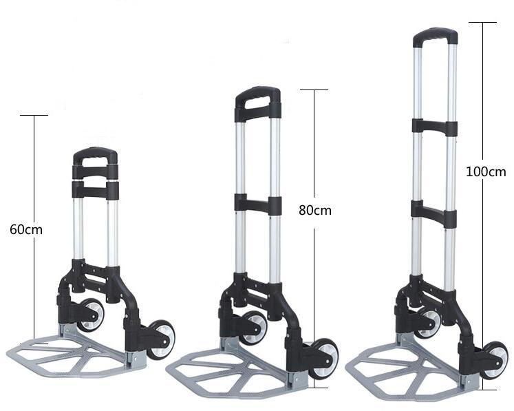 Aluminum Alloy Folding Luggage Cart  Trolley Portable Trailer Shopping Cart