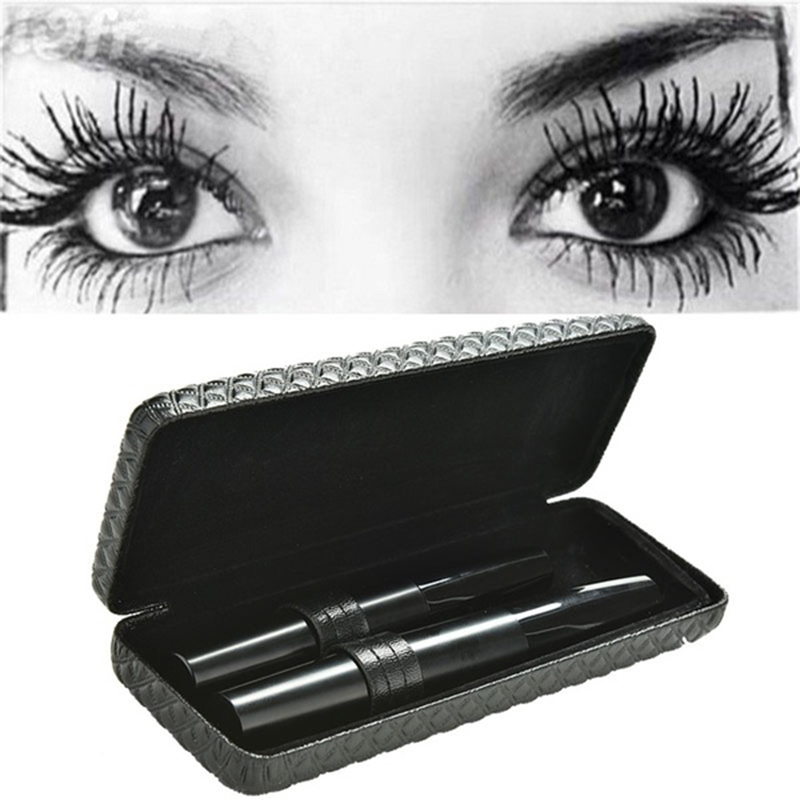 2Pcs 3D Fiber Lash Mascara Set Gorgeous Women Makeup Tool Luxurious Waterproof Eyes Lash Thick Curled Makeup Tools New Products