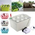 1 комплект  220 В  комплект гидропонных систем для выращивания растений  6 отверстий  Детские горшки  коробка для выращивания растений  рост ра...