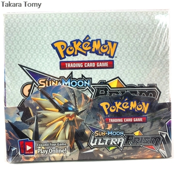 324pcs Pokemones cards  Ultra Prism Edition in English version Booster Box Collectible Trading Cards Game for kids 1
