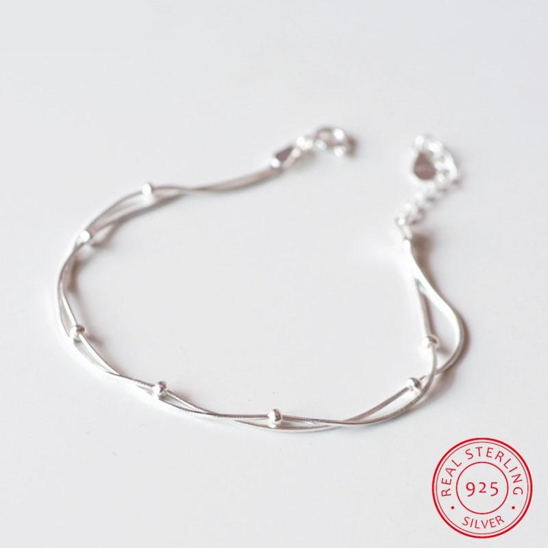 New Arrivals Multilayer Beads 925 Sterling Silver Bracelets & Bangles Fashion Bracelet For Women Sterling-silver-jewelry
