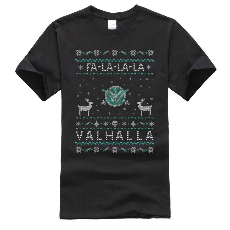 Fa la VALHALLA feo suéter Retro joven Hip Hop de algodón Premium camisetas y Tops Harajuku Normal camisetas