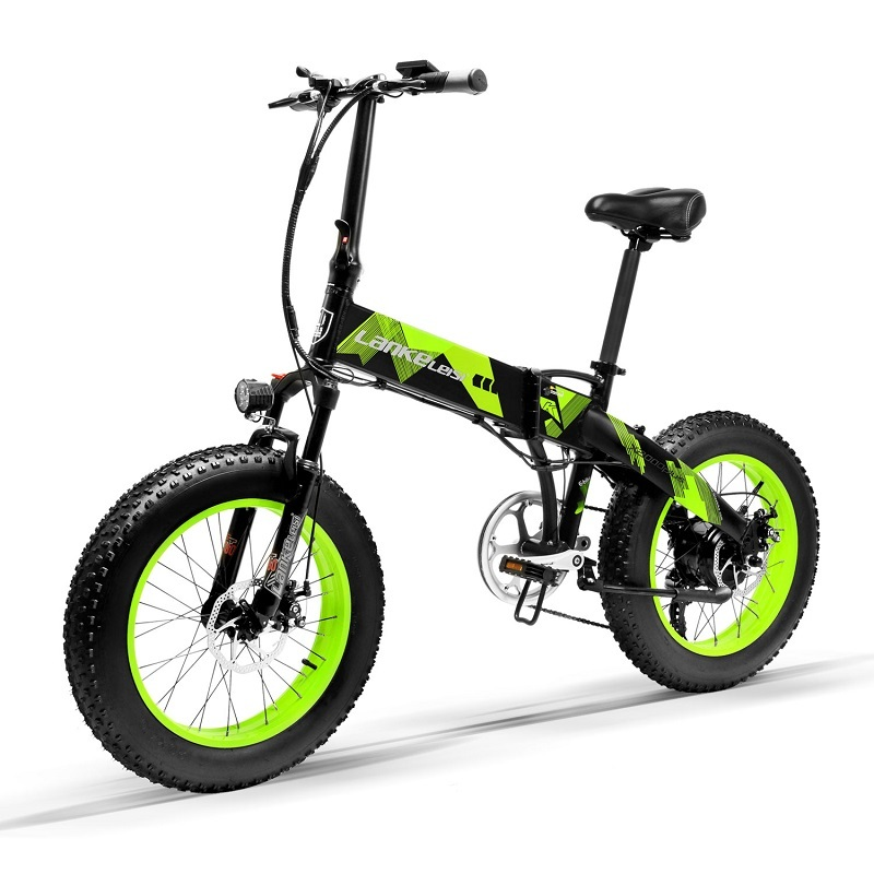 Electric LANKELEISI   X2000Plus foldable 20 inch Bicycle 400W Motor 13AH L G Lithium Battery for professional rider 1