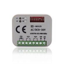 Multi frequência universal do receptor 433-868 mhz do controle remoto 300 mhz do receptor 900mhz da porta da garagem hormann berner sommer