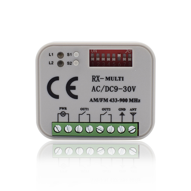 Universal garage gate receiver HORMANN BERNER MARANTEC SOMMER Remote Control 433 MHz 868 MHz Receiver 300 900mhz Multi Frequency