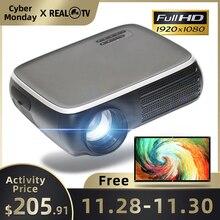 REAL TV Projektor M8S Full HD 1080P, 4K, 7000 lumenów, kino, Android, WiFi HDMI, VGA, AV, USB, z prezentem