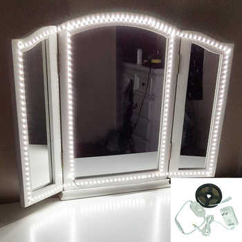 1 Set 300 LEDs Makeup Mirror Vanity Mirror Light with Dimmer Power Supply For Dressing Table With Manual Makeup Mirror Lights - DISCOUNT ITEM  25% OFF All Category