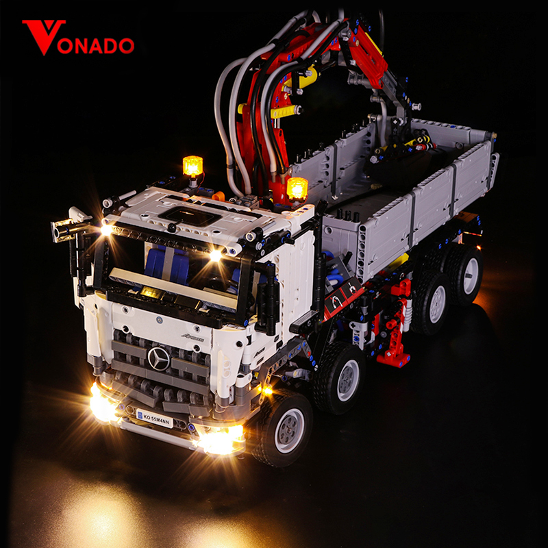 Led Light Compatible For <font><b>Lego</b></font> <font><b>42043</b></font> Building Brick Blocks 20005 <font><b>technic</b></font> the Arocs 3245 truck car Toys( light with Battery box) image