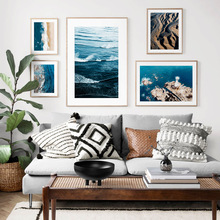 Landscape Sea Beach lighthouse Island Wall Art Canvas Painting Nordic Posters And Prints Wall Pictures For Living Room Decor