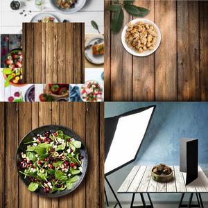 Image 1 - 60x60 см Ретро деревянная доска текстура фон для фотографии ткань студийный видео фото Декорации для фона реквизит для еды