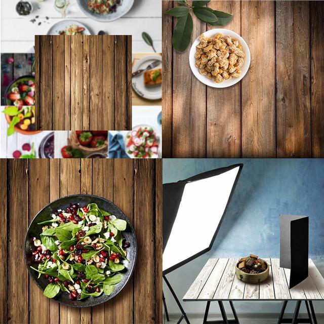 60x60 см Ретро деревянная доска текстура фон для фотографии ткань студийный видео фото Декорации для фона реквизит для еды