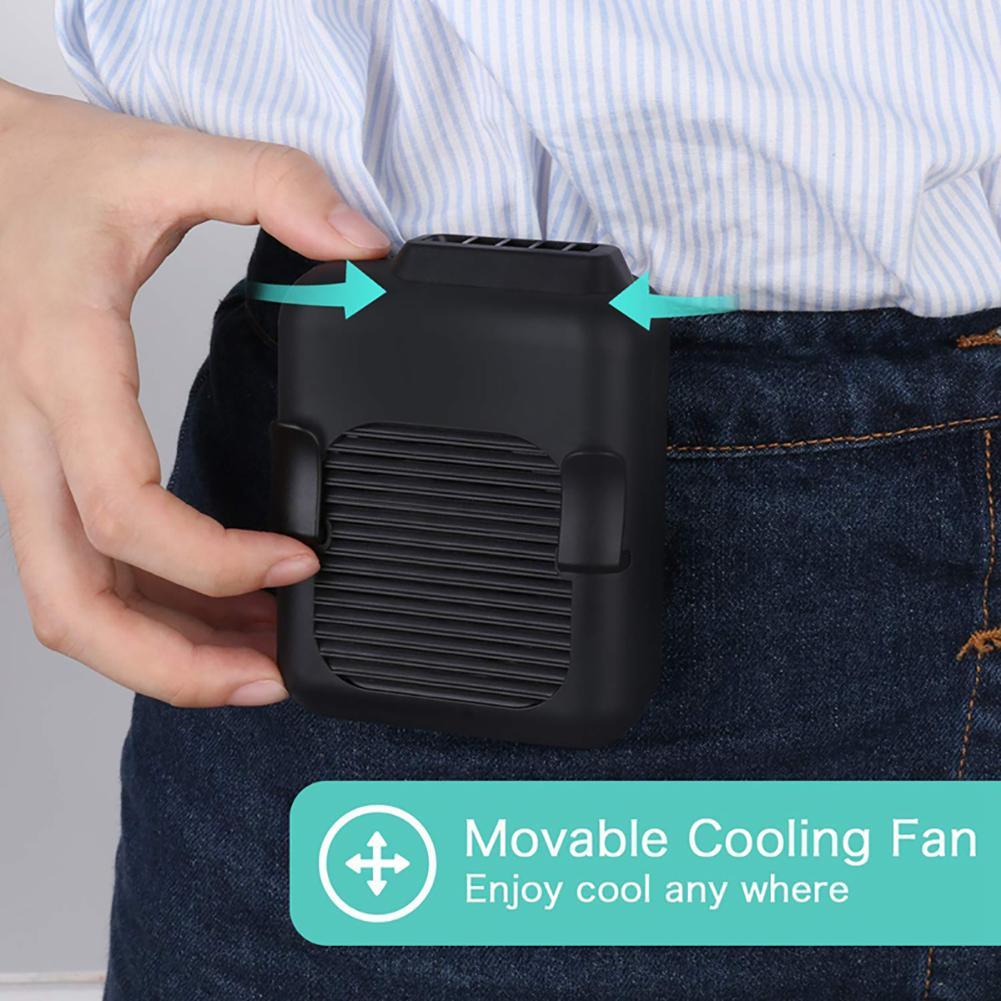 Summer Portable USB Hanging Clip On Waist Belt Neck Hands-free Air Cooling Fan 2020