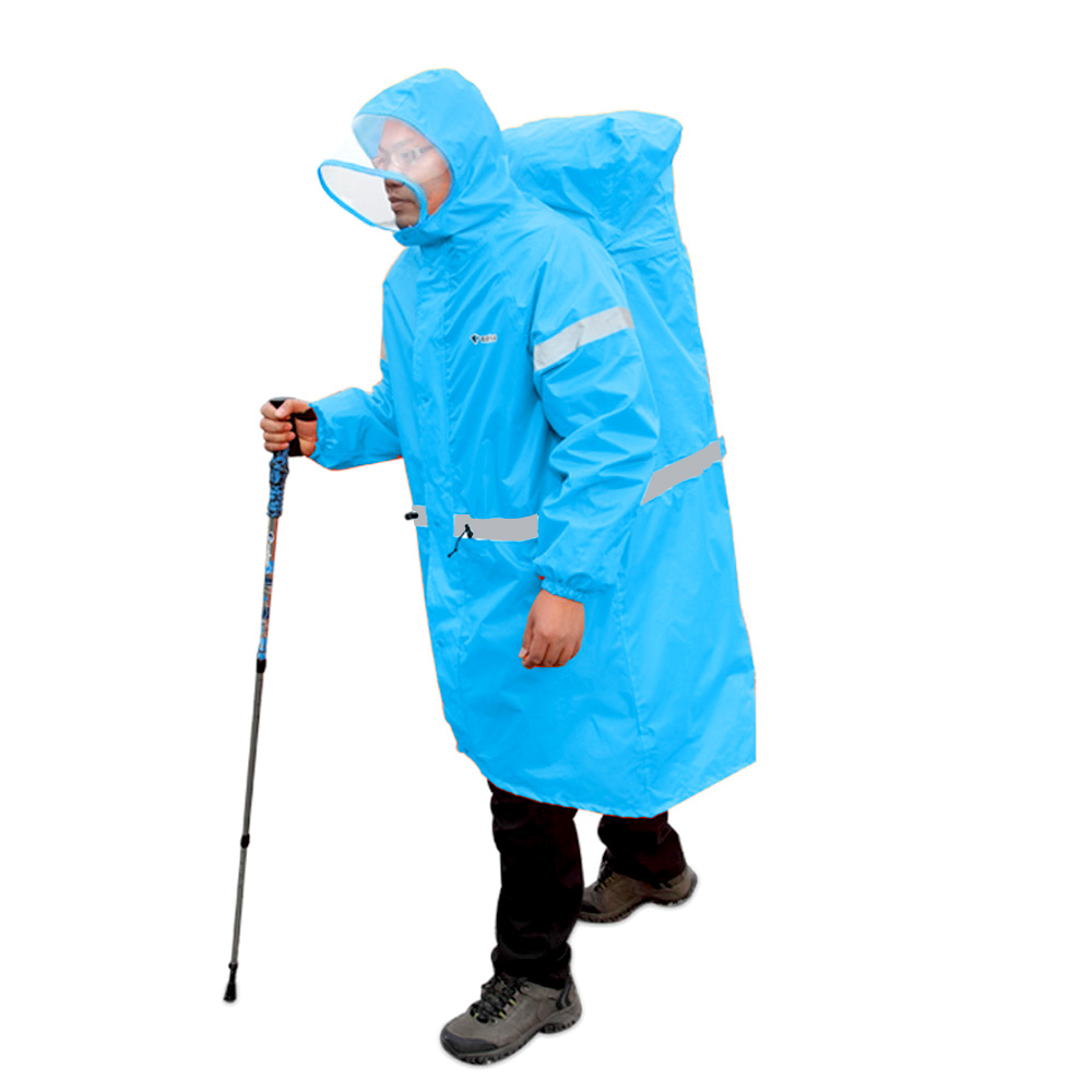 BlueField-Outdoor-Raincoat-Backpack-Cover-One-piece-Raincoat-Poncho-Rain-Cape-Outdoor-Hiking-Camping-Jackets-Unisex