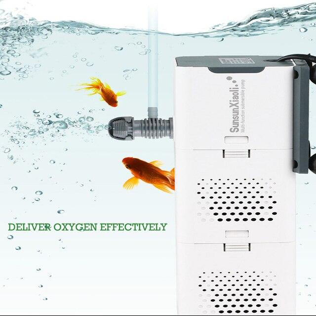 4 In 1 Multi-function Aquarium Filter Internal Sponge Filter for Fish Tank Submersible Water Pump Wave Maker Aerator 3