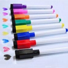 YIBAI-pluma de pizarra magnética, imán de dibujo y grabación borrable, Marcadores de pizarra blanca seco para oficina y escuela, 8 Uds.