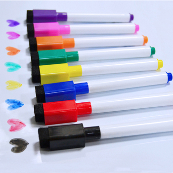 YIBAI 8Pcs Magnetic Whiteboard Pen,Drawing and Recording Magnet Erasable Dry White Board Markers For Office School Supplies - discount item  35% OFF Pens, Pencils & Writing Supplies