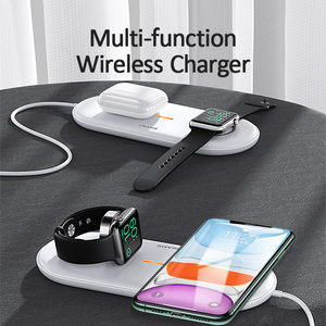 Image 5 - USAMS 3 in 1 Qi Wireless Charger สำหรับ iPhone X XS MAX XR 8 Fast Wireless CHARGING Pad สำหรับ Airpods 2019 Apple 5 4 3 2 1