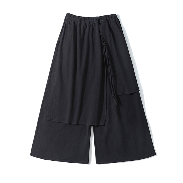 Men Casual Baggy pants Hip-hop Trouser Dancing Wide leg Pants Gothic Punk Style loose Pants Men 4