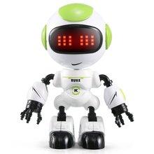 R8/R9 RC JJR/C Робот сенсорный зондирование светодиодный глаз умный голос DIY жесты сплава тела Мини Робот Модель игрушка подарок для детей